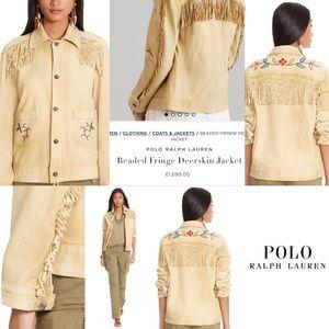 Polo Ralph Lauren Deerskin Fringe Leather Jacket